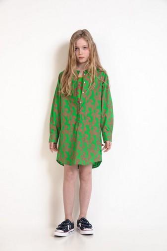 Grasgrünes Hemdkleid