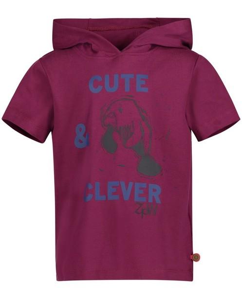T-Shirts - Pflaume - Purperen T-shirt met kap