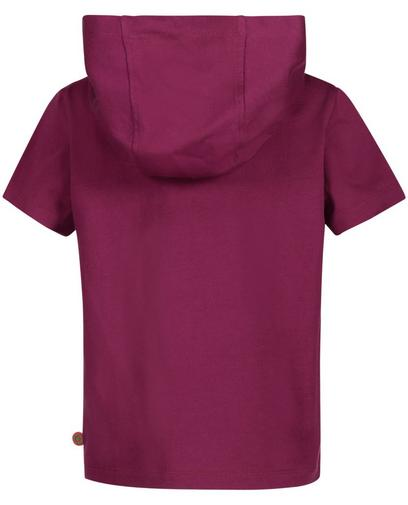 Purperen T-shirt met kap