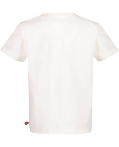 Cremeweißes T-Shirt mit Print