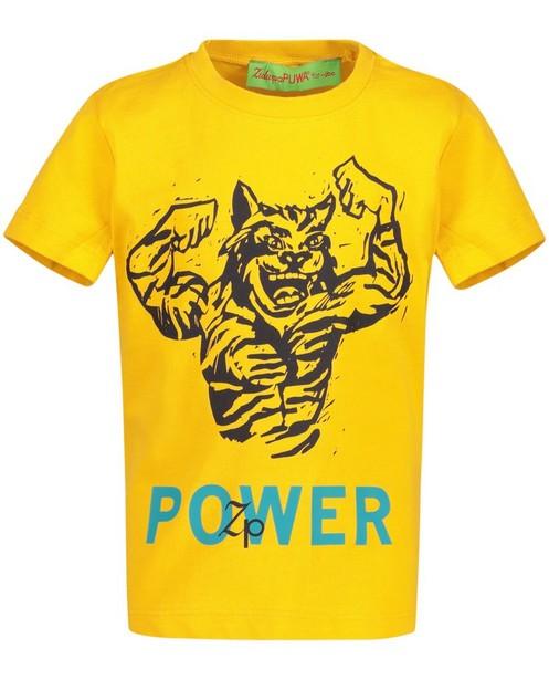 T-Shirts - Ockergelb - T-shirt met tijgerprint