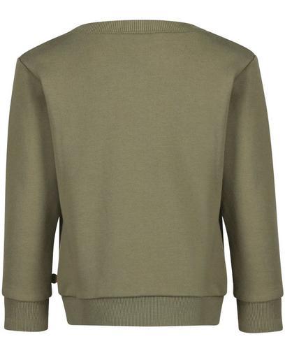 Kaki sweater met print