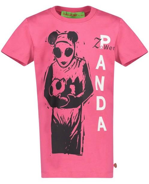 T-Shirts - Pflaume - T-Shirt mit Panda-Print
