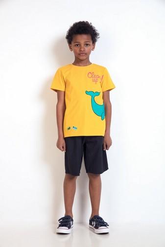 T-Shirt mit Walfischprint