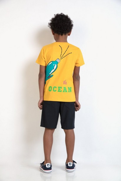 T-Shirts - Ockergelb - T-Shirt mit Walfischprint