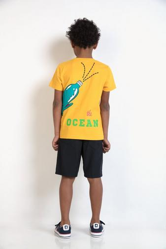 T-shirt met walvisprint