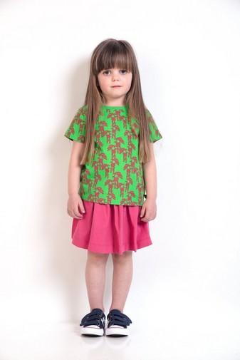 Grasgrünes T-Shirt