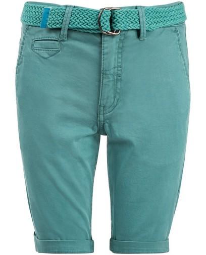 Türkisfarbene Bermuda-Shorts