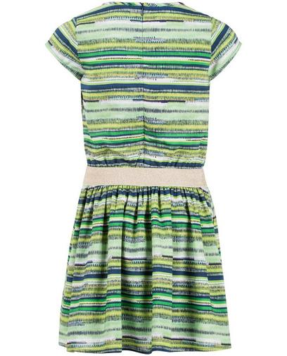Groene gestreepte jurk
