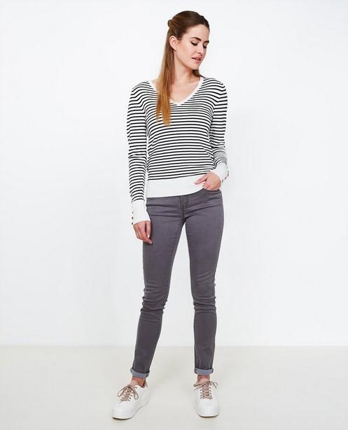 Grijze skinny jeans FAYE - met lichte stretch - JBC