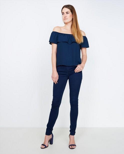 Donkerblauwe skinny jeans FAYE - met lichte stretch - JBC NL