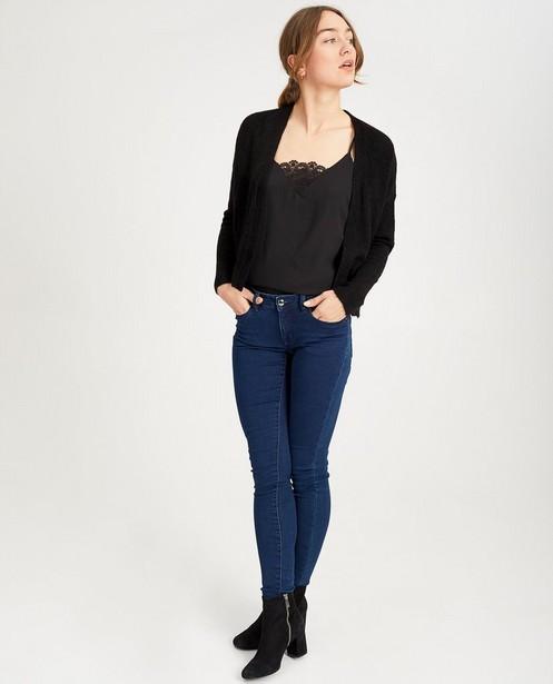 Donkerblauwe skinny jeans FAYE - met lichte stretch - JBC