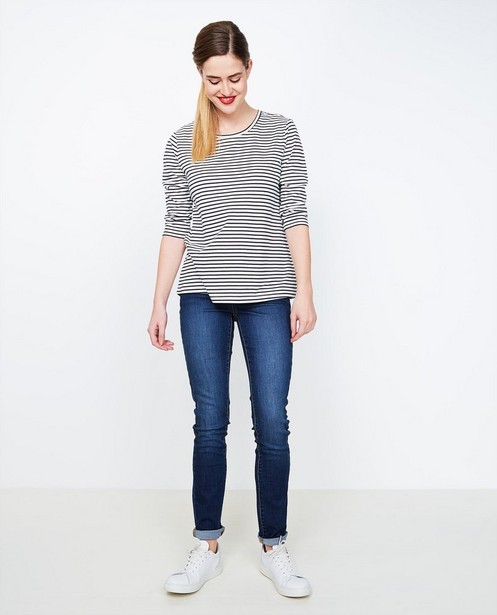Donkerblauwe slim jeans FENNA - verwassen - JBC