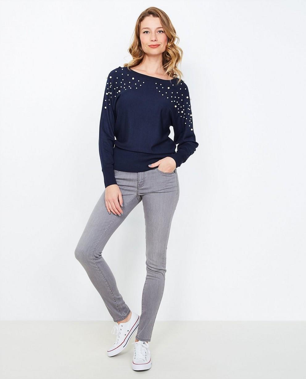 Jeans skinny gris - avec un look délavé - JBC