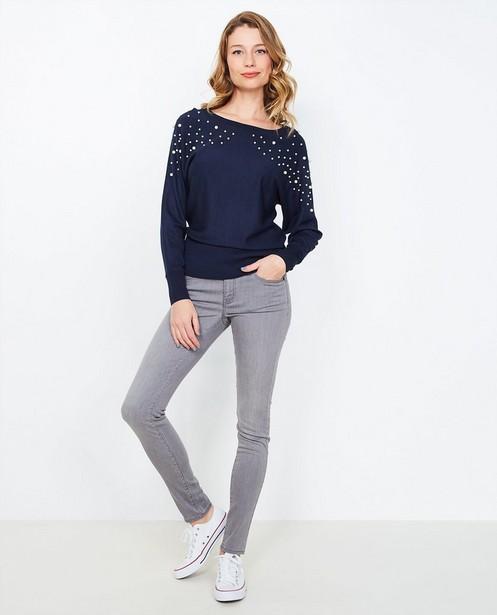 Grijze skinny jeans - met verwassen look - JBC