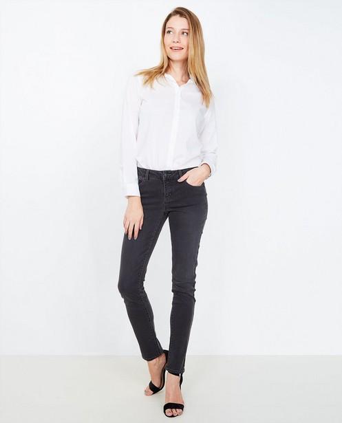 Zwarte slim jeans - met verwassen look - JBC