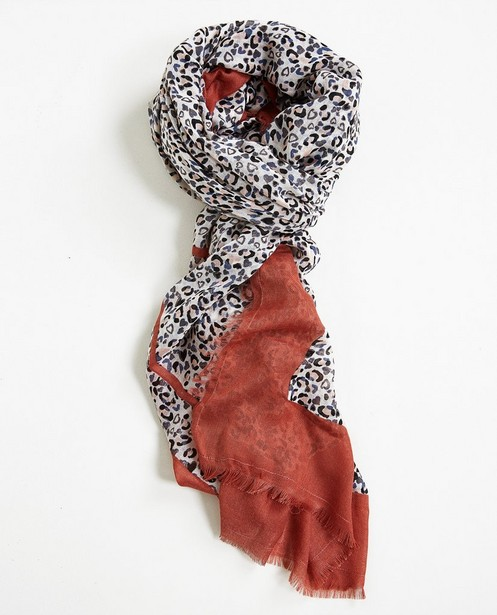 d610917090c Écharpe imprimé léopard - avec des franges