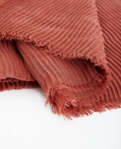 36d701ada73 Écharpe rose pâle avec motif tacheté none
