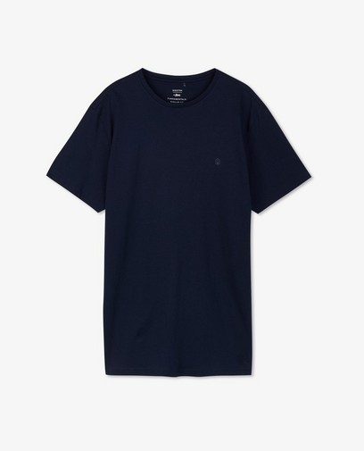 T-shirt bleu foncé en coton bio