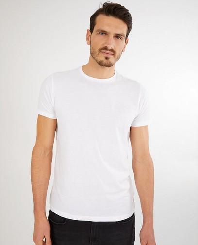 Wit T-shirt van biokatoen