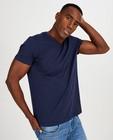 T-shirts - Donkerblauw T-shirt van biokatoen V-hals