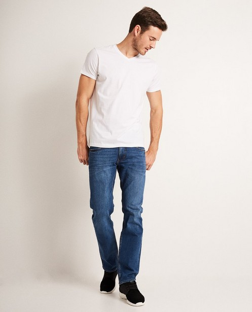 T-shirt blanc en coton bio, col en V - basique - JBC