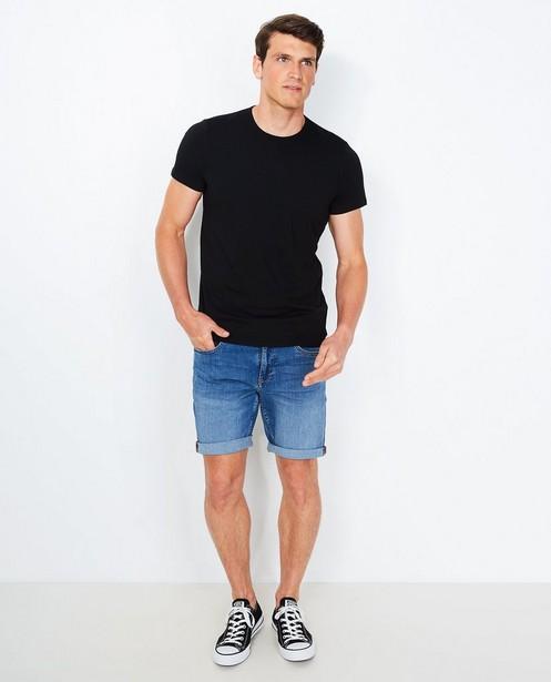 T-shirt noir en coton bio - encolure ronde - JBC