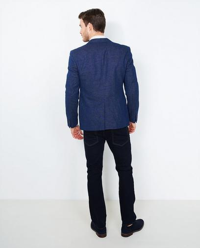 Donkerblauwe blazer