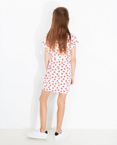 Roomwitte jurk