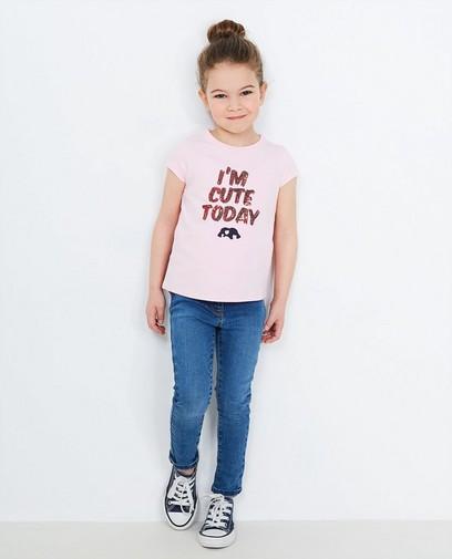 T-shirt rose clair