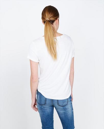T-shirt blanc statement