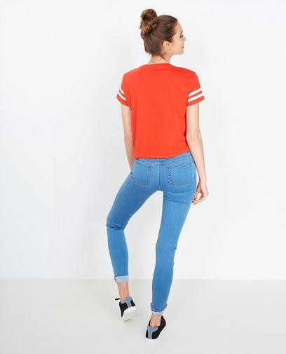 T-shirt rouge cropped