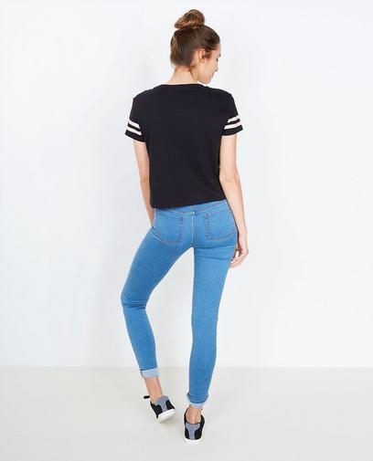 T-shirt noir cropped