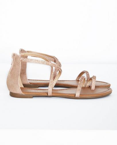 Oudroze sandalen