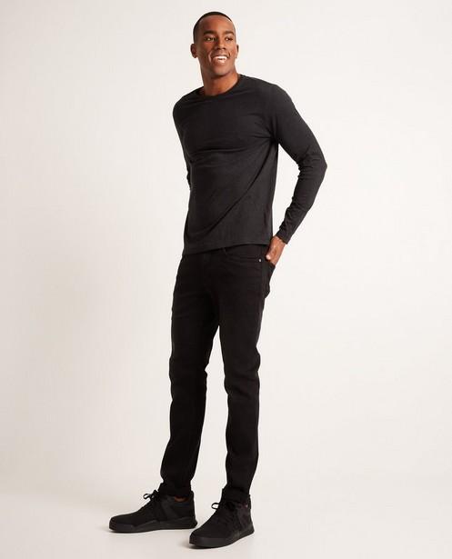 T-shirt à longues manches - gris foncé, en coton bio - JBC