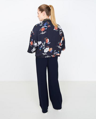 Nachtblauwe kimono
