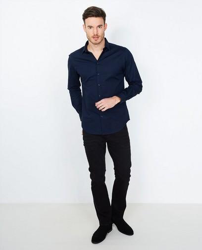 Donkerblauw hemd slim fit