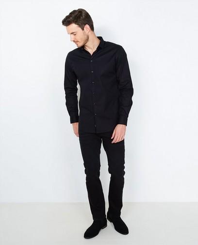 Zwart hemd slim fit