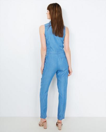 Lichtblauwe jumpsuit