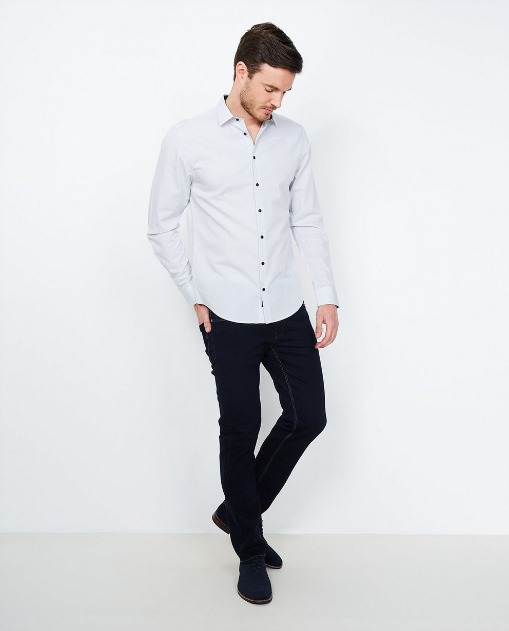 Jeans - navy - Fitted straight jeans