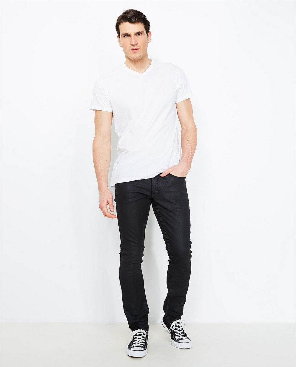 Jeans - black - Zwarte slim jeans