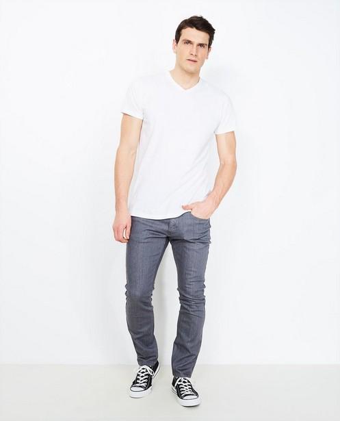 Jeans slim gris - effet délavé - JBC