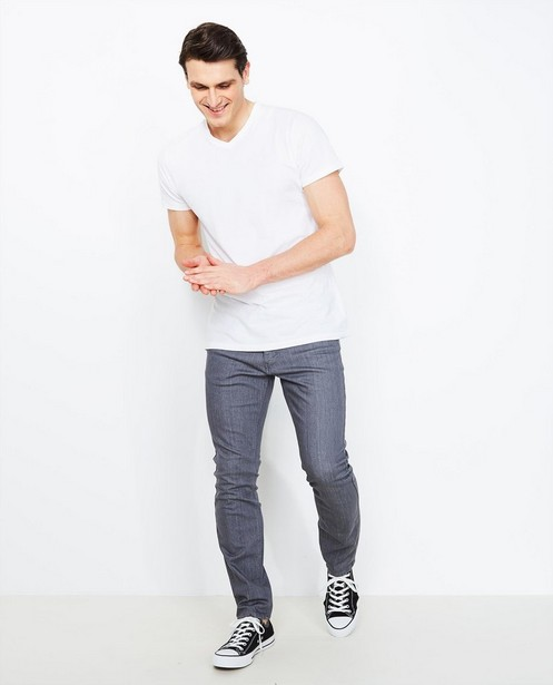 Jeans - dark grey - Grijze slim jeans