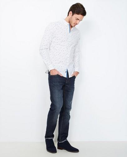 Regular jeans met wassing