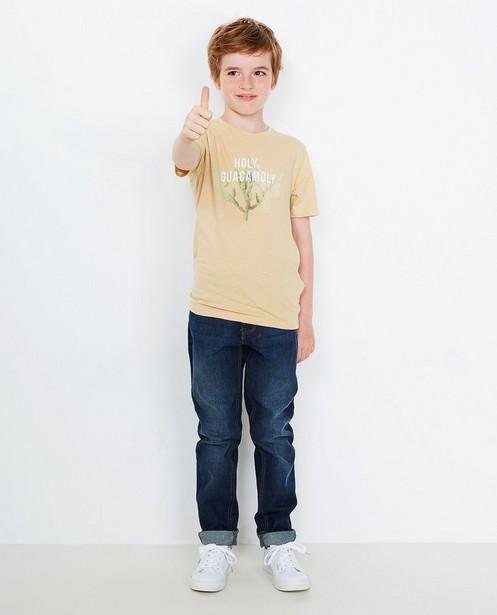 T-shirt imprimé cactus - couleur sable - JBC