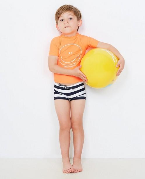 Fluo-oranje zwemshirt - in UV-bestendige stof - JBC