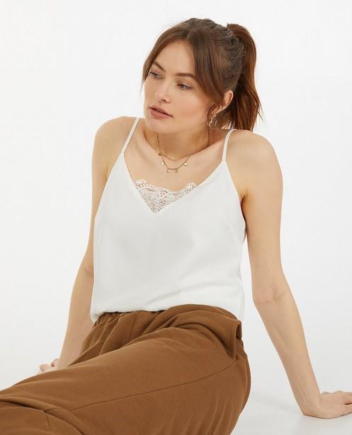 7216c149ca6 Chemises - white - Top avec col en dentelle