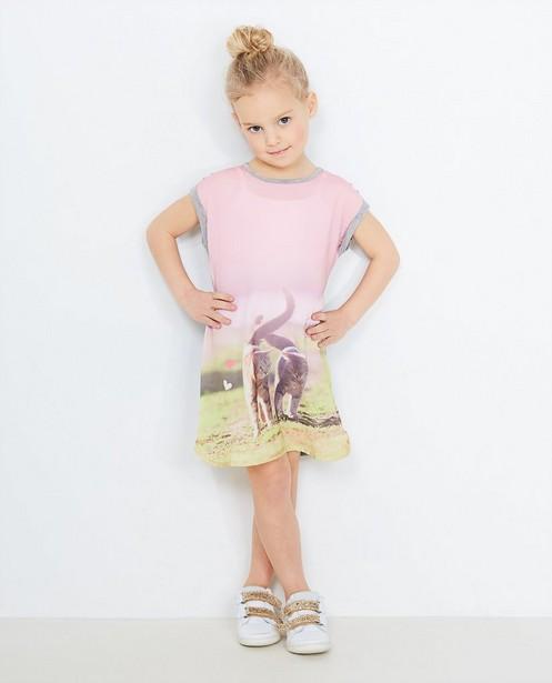Jurkje met fotoprint - in roze en grijs, BESTies - Besties