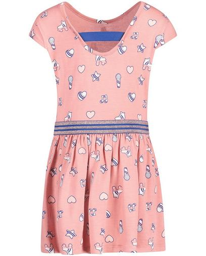 Oudroze jurk met print