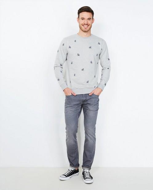 Jeans gris slim fit - légèrement délavé - JBC